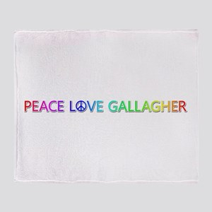Peace Love Gallagher Throw Blanket