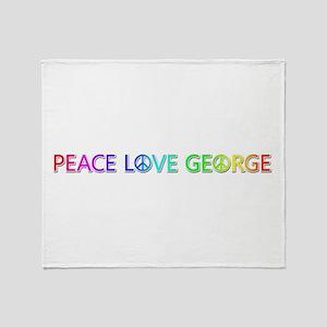 Peace Love George Throw Blanket
