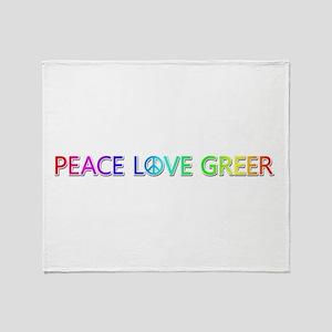 Peace Love Greer Throw Blanket