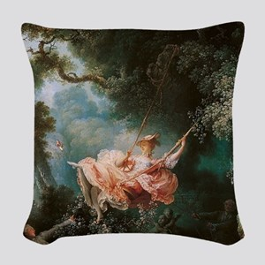 The Happy Accidents of the Swi Woven Throw Pillow