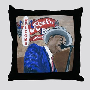 New Orleans Blues Throw Pillow
