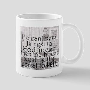 cleanliness humor Mugs