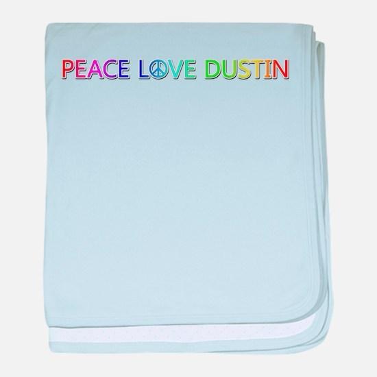 Peace Love Dustin baby blanket