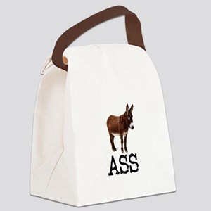 MULE DONKEY ASS Canvas Lunch Bag