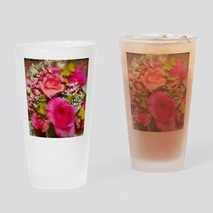 Rose Bouquet Drinking Glass