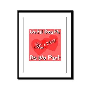 You & Me Framed Panel Print