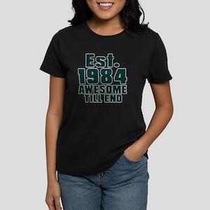 Est. 1984 Awesome Till End Bi Women's Dark T-Shirt