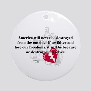 Abraham Lincoln Quote Ornament (Round)