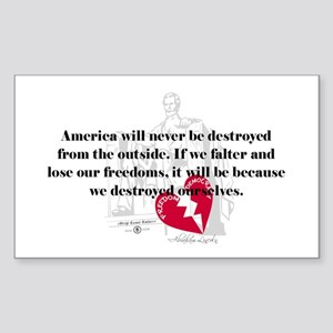 Abraham Lincoln Quote Rectangle Sticker