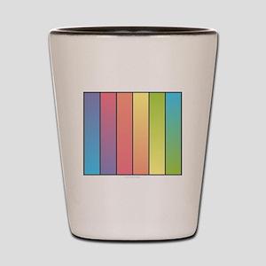 Rainbow Blend Shot Glass