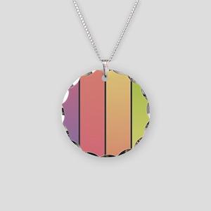 Rainbow Blend Necklace Circle Charm