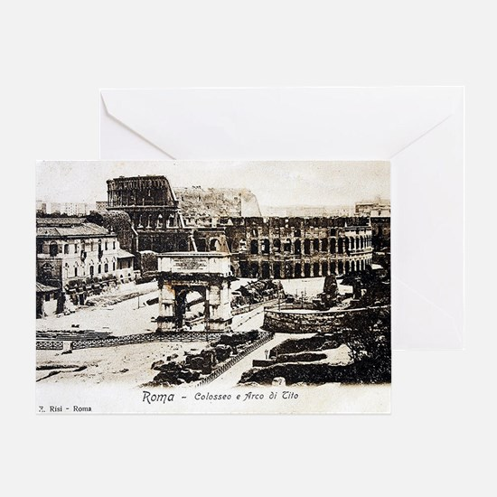 Vintage Post Card of Rome Greeting Cards