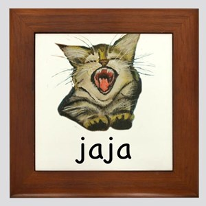 jaja Kitty Framed Tile