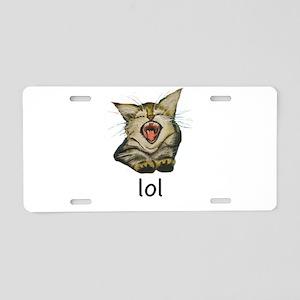 lol Kitty Aluminum License Plate