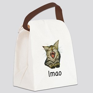 lmao Kitty Canvas Lunch Bag
