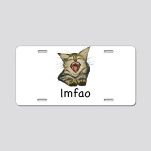 lmfao Kitty Aluminum License Plate