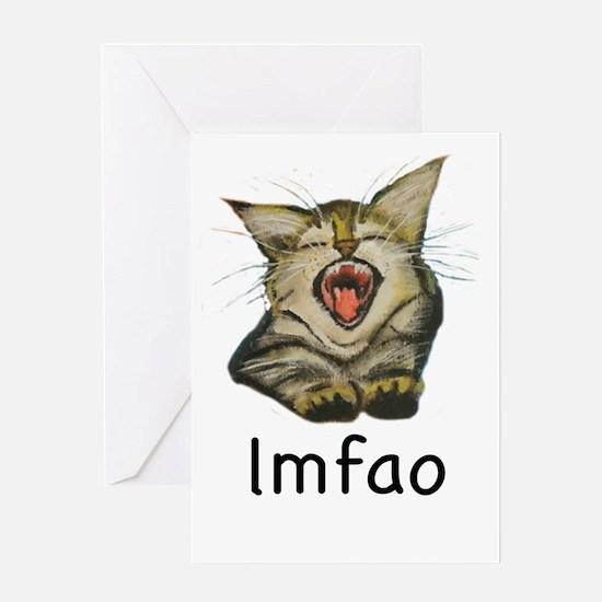 lmfao Kitty Greeting Cards