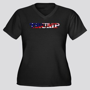 Trump - American Flag Plus Size T-Shirt