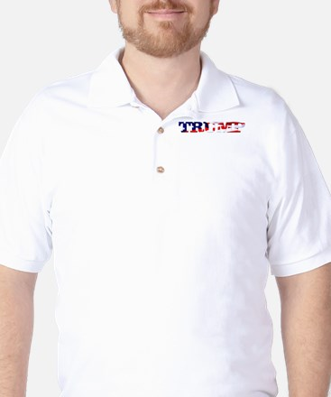 Trump - American Flag Golf Shirt