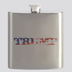 Trump - American Flag Flask