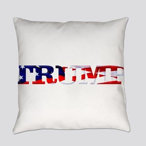 Trump - American Flag Everyday Pillow