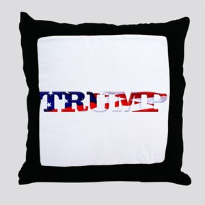Trump - American Flag Throw Pillow