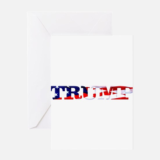 Trump - American Flag Greeting Cards