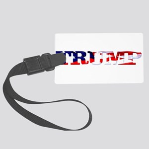 Trump - American Flag Large Luggage Tag