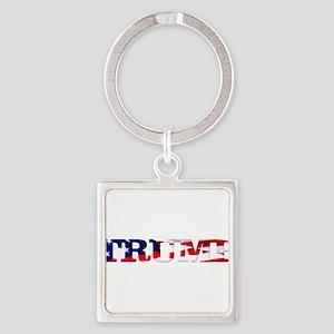 Trump - American Flag Keychains