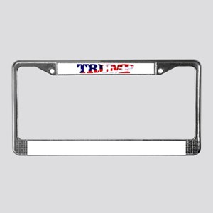 Trump - American Flag License Plate Frame