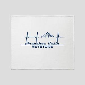 Arapahoe Basin - Keystone - Colora Throw Blanket