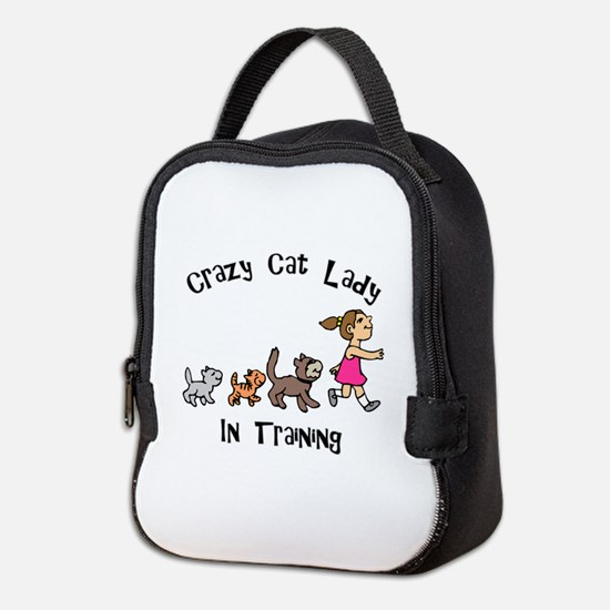 Crazy Cat Lady Trainee Neoprene Lunch Bag