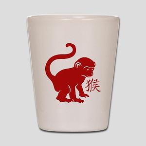 Cute Year Of The Monkey Shot Glass