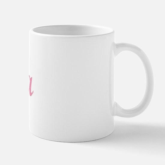 Eula vintage pink ribbon Mug