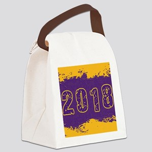2018 Purple Gold Canvas Lunch Bag