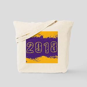 2018 Purple Gold Tote Bag