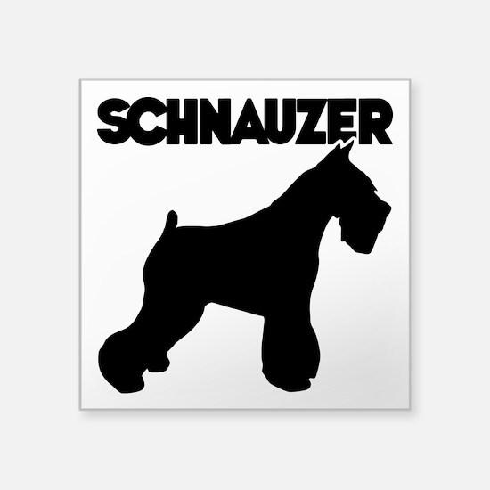 "SCHNAUZER Square Sticker 3"" x 3"""