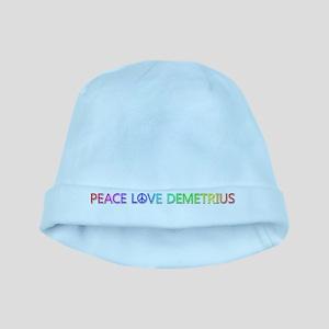 Peace Love Demetrius baby hat