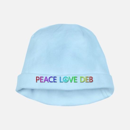 Peace Love Deb baby hat