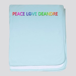 Peace Love Deandre baby blanket