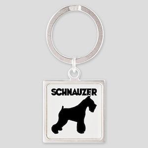 SCHNAUZER Square Keychain