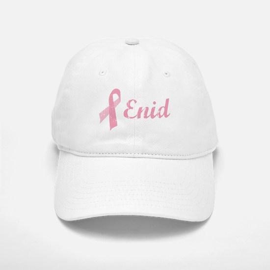 Enid vintage pink ribbon Baseball Baseball Cap