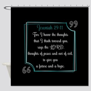 Bible Verse Quote Jeremiah 29:11 Shower Curtain