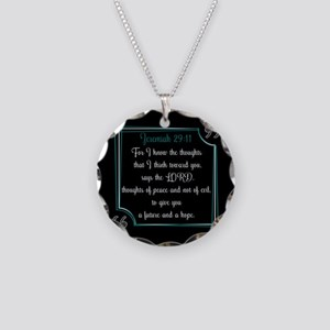 Bible Verse Quote Jeremiah 2 Necklace Circle Charm