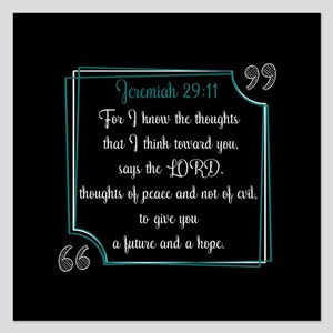 Bible Verse Quote Jeremiah 5.25 x 5.25 Flat Cards