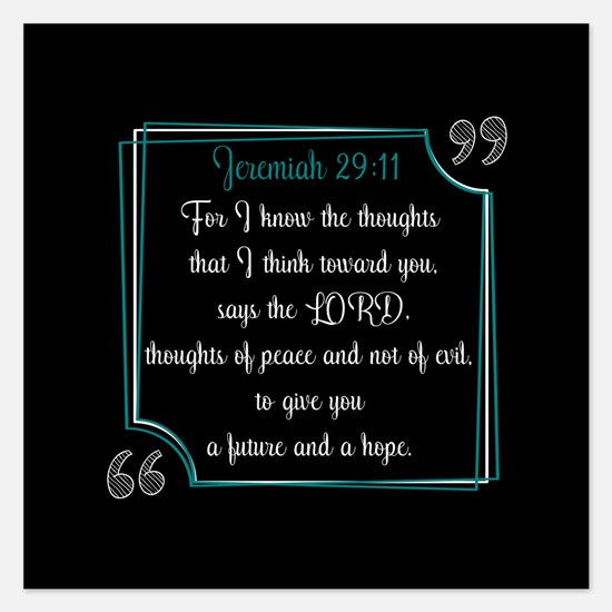 Bible Verse Quote Jeremiah Invitations