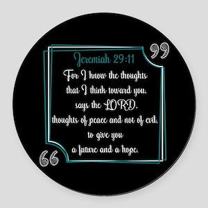 Bible Verse Quote Jeremiah 29:11 Round Car Magnet