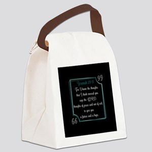 Bible Verse Quote Jeremiah 29:11 Canvas Lunch Bag