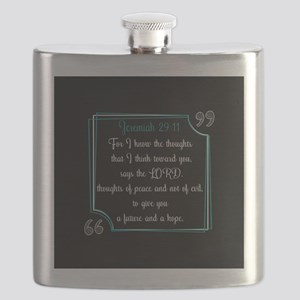 Bible Verse Quote Jeremiah 29:11 Flask