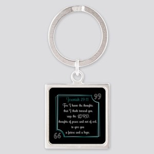 Bible Verse Quote Jeremiah 29:11 Square Keychain